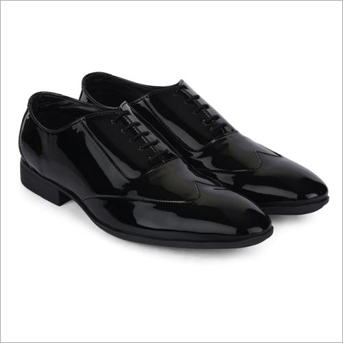 Samoa Shiny Black Leather Shoes