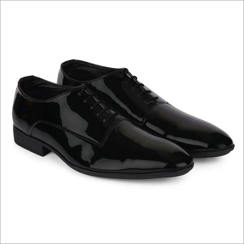 Malta Shiny Black Leather Shoes