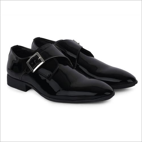Oregon Shiny Black Leather Shoes