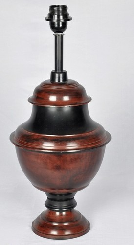 RUST AND BLACK TWO TONE TABLE LAMP
