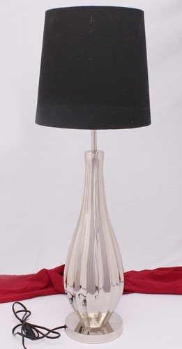 SILVER TAPPER BEDSIDE TABLE LAMP