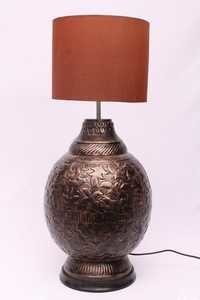 COPPER ANTIQUE GLOBE TABLE LAMP