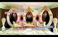 Unusual Leather Oval Wedding Stage Backdrop Frames