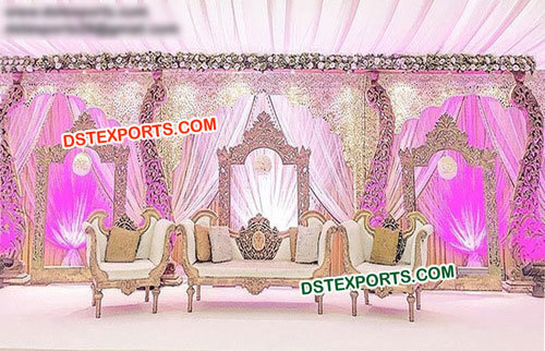 Wooden Carved Wedding Stage