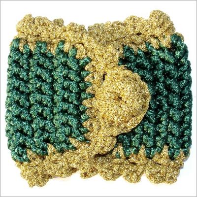 GREEN CROCHET NAPKIN RING