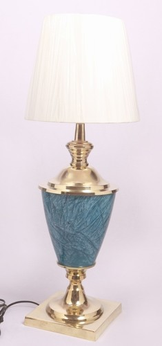 BLUE STONE FINISH BEDSIDE TABLE LAMP