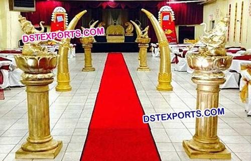Indian Wedding Walkway Pillars Decoration