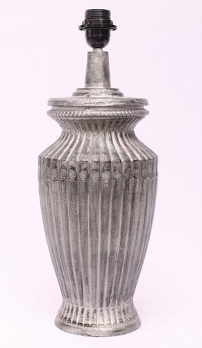 BEDSIDE GRAY LINED DESIGNER TABLE LAMP
