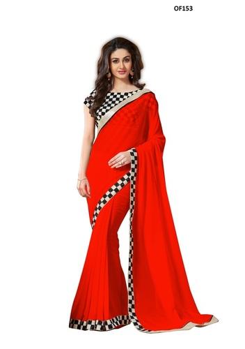 Unstitched Indian Saree