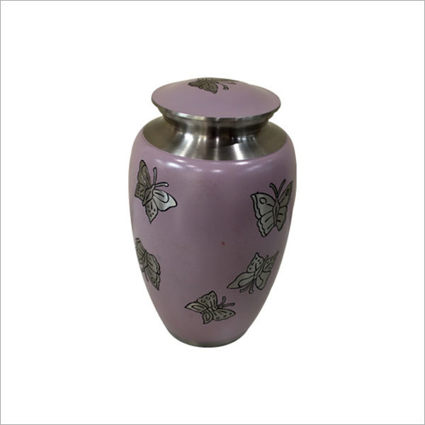Flying Butterfly Engraved Cremation Urn