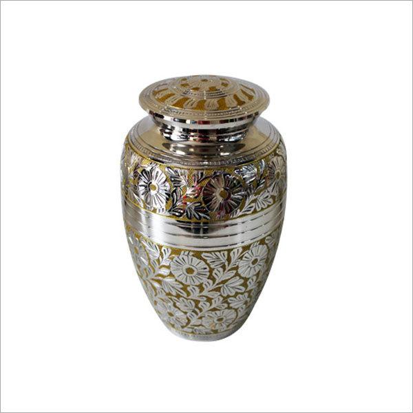 Flower Engraved All Over Cremation Urn