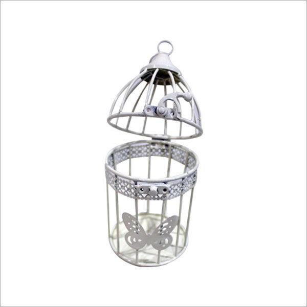 Hanging Bird Cage Tea light Candle Holder