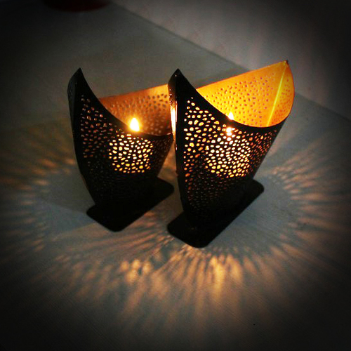 Boat Shape T Light Candle Holder