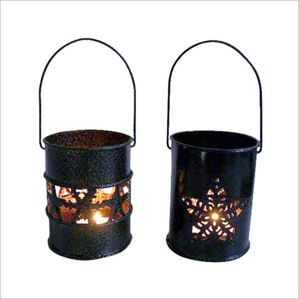 Snowflake Design Light Candle Holder