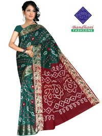 Bandhani Gadhwal Silk Sarees Wholesale
