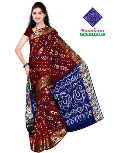 Bandhani Pure Silk Sarees Wholesale