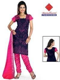 Bandhani Gaji Silk Dress Material Wholesale