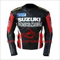 Printed Motorbike Leather Jacket