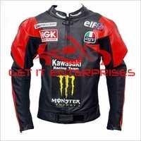 Black Racing Leather Jacket