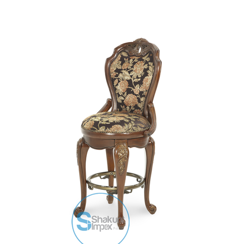 Antique Hand Carved Bar Chair