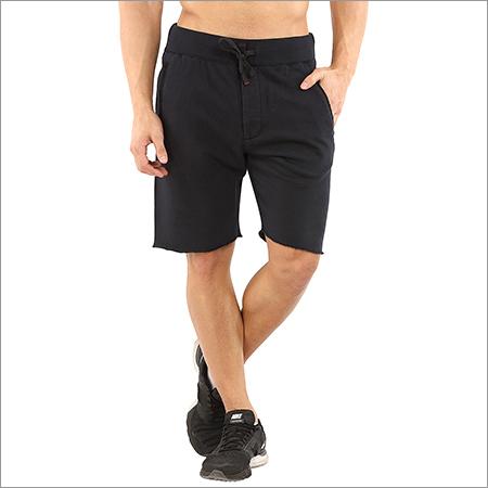 Men's Three Fourth Black Shorts