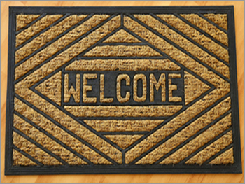 Plain Rubber Doormat