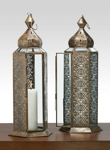 Antique Bronze Moroccan Lantern