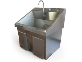 Double Scrub Sinks