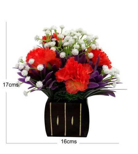 Artificial Carnation Flower Arrangement For Decor