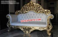 Heavy Carved Wedding Brass Metal Sofa