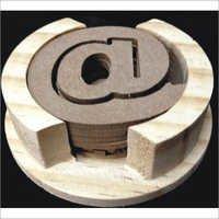 Round Wooden Coaster ( A Design)