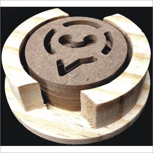Round Wooden Coaster ( Whatt Design)
