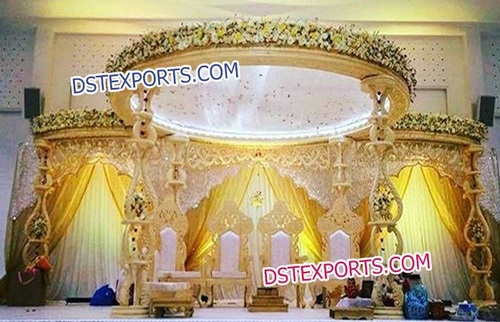 Hand Made Wedding Wooden Carved Mandap