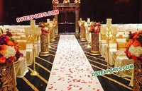 Wedding Golden Carved Aisle Decoration