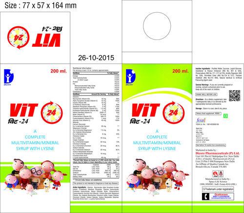 Multivitamin + Multiminerals + L-Lysine Syrup