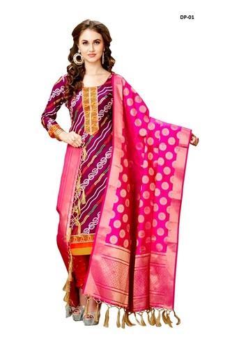 Designer Dark Pink Dupatta