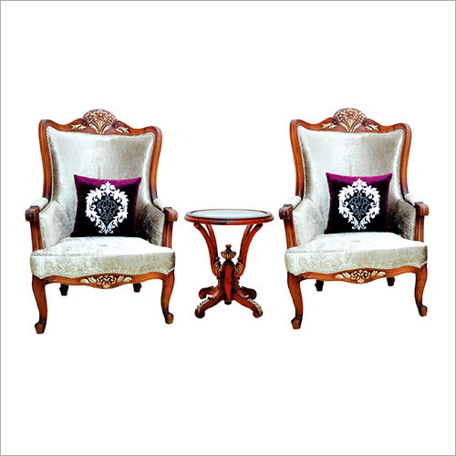 High Cack Carving Flowery Chairs