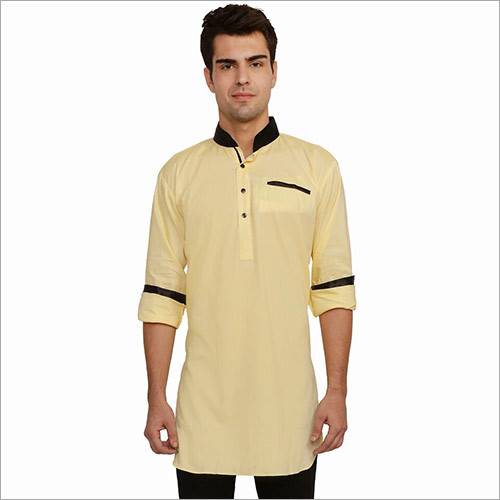 Veera Paridhaan Men's Solid Yellow Kurta