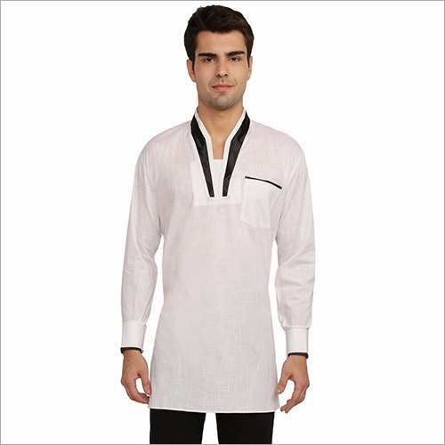.Veera Paridhaan Men's Solid White Kurta