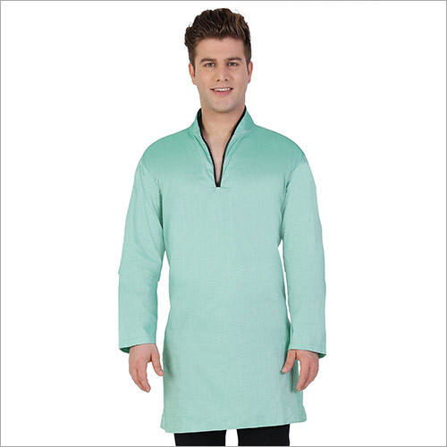 Veera Paridhaan Men's Solid Green Kurta