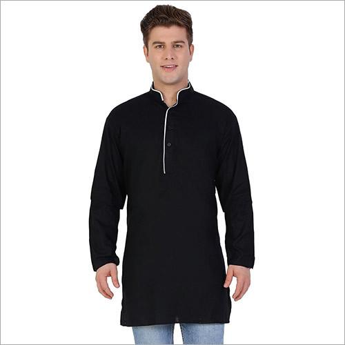 Veera Paridhaan Men's Solid Black Kurta Pajama