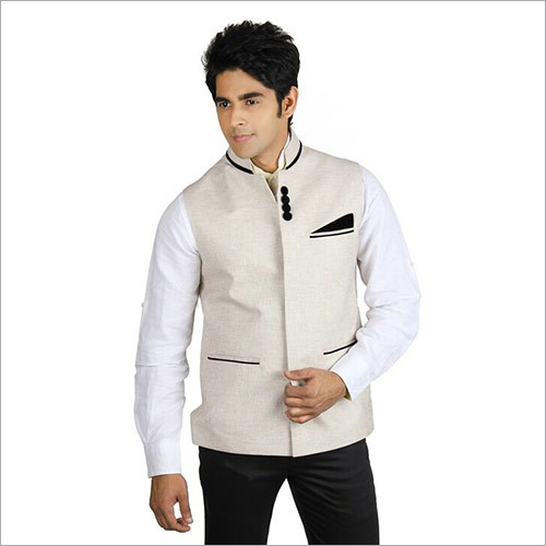 Veera Paridhan Men's Beige Nehru Jacket