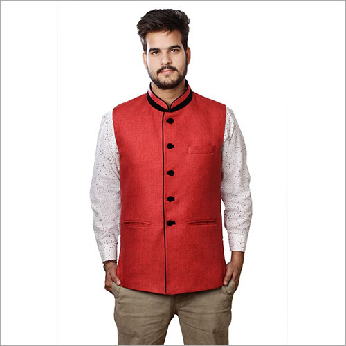 Veera Paridhaan Men's Jute Nehru Jacket