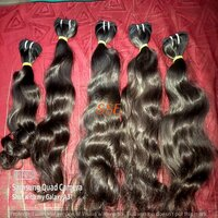 wet wavy hair