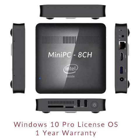 MiniPC 8CH - Intel Quad Core / GST Invoice