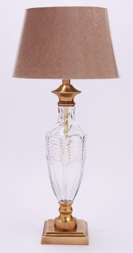 FANCY GLASS BEDSIDE TABLELAMP