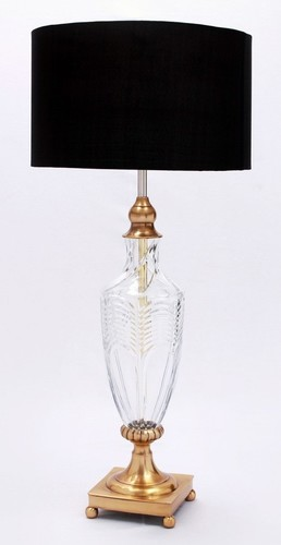 CRYSTAL BLACK LAMP SHADE TABLE LAMP