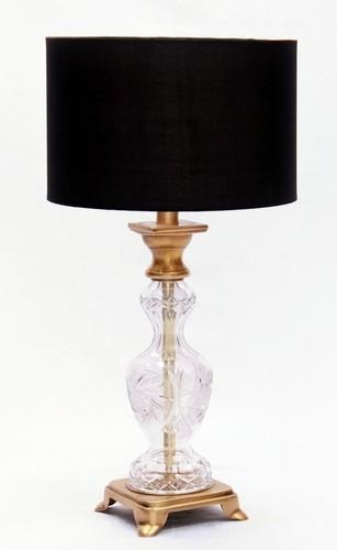 FANCY GLASS TABLE LAMP