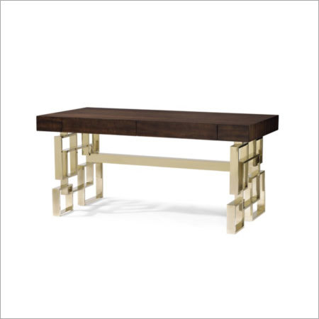 Metal Base Wooden Table