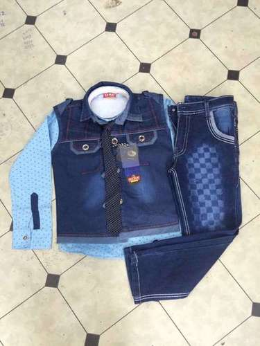 DENIM JACKET SUIT
